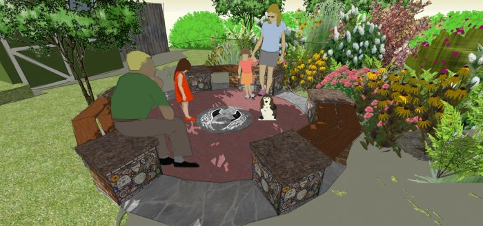 Designer's Sketch for Morrisville Memorial Garden